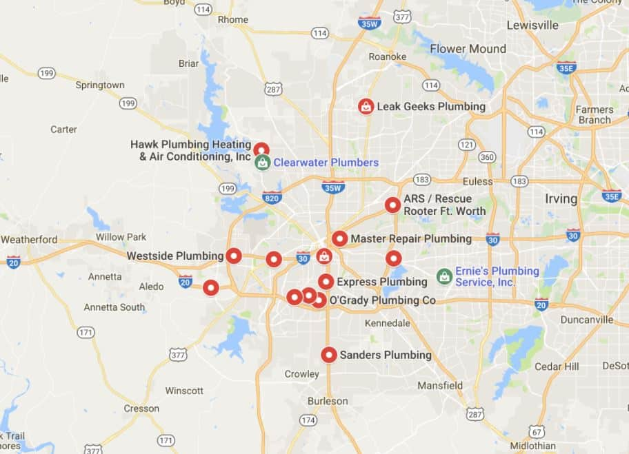 plumbers in fort worth texas