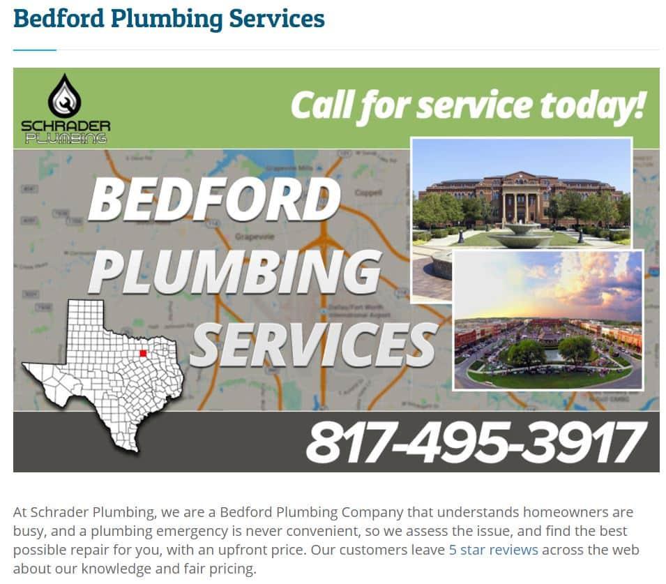 Schrader Plumbing Bedford Tx
